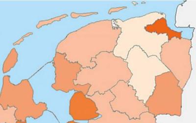 Coronacrisis milder voor het Noorden. Groningen-Assen minst getroffen, hardste klappen voor Eemsdelta