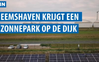 Eemshaven krijgt de eerste zonnedijk ter wereld: 5 kilometer zonnepanelen