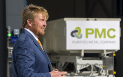 Koning Willem-Alexander opent recyclingfabriek PMC in Delfzijl