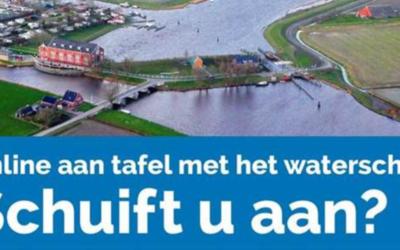 Online aan tafel met Waterschap Noorderzijlvest!