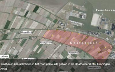 Enorme uitbreiding voor de Eemshaven: oppervlakte wordt meer dan verdubbeld